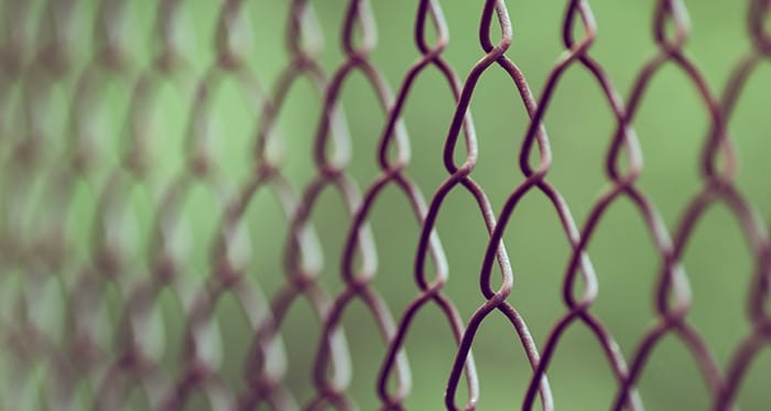 Outback data privacy chain link fence