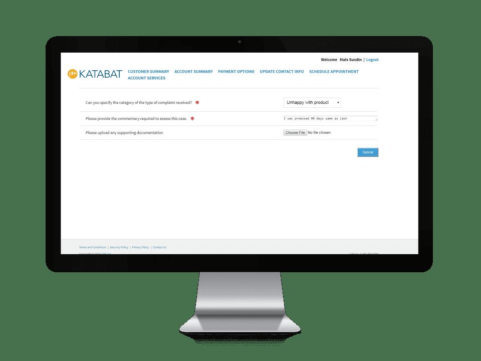 Katabat Customer Complaint Filing