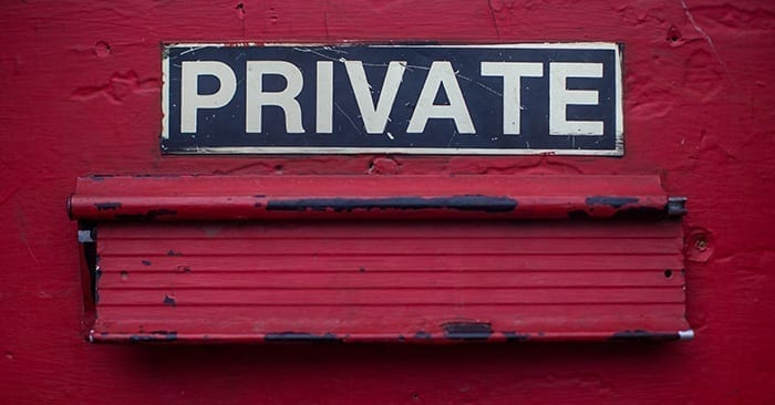 Private Sign GDPR Data Privacy