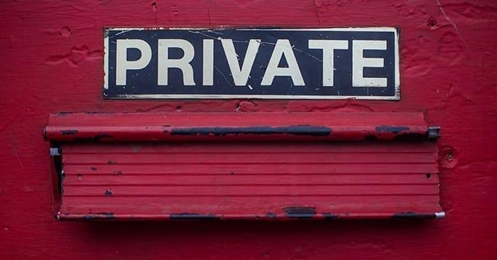 Private Sign GDPR Data Privacy