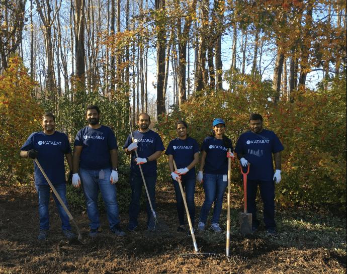 Group of people at Katabat Service Day gardening
