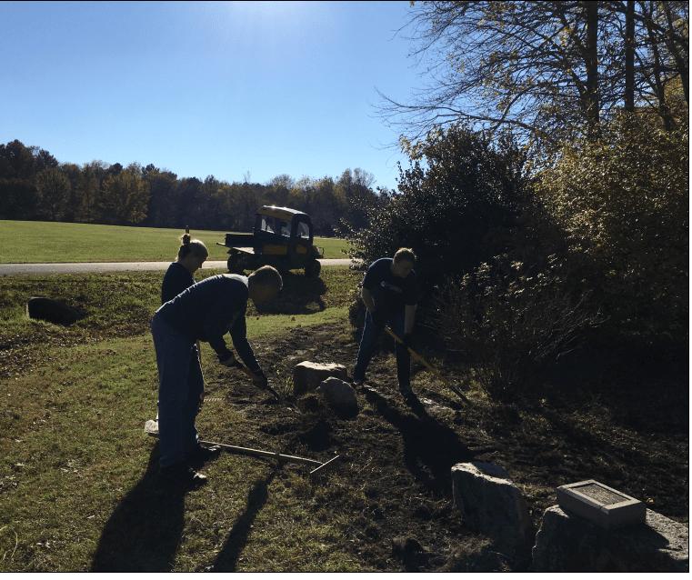 Gardening at Katabat Service Day