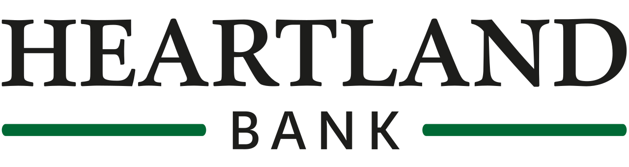 Heartland Bank logo in black